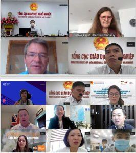 """Hội thảo """"Giáo dục nghề nghiệp ứng phó với dịch covid -19: kinh nghiệm Quốc tế và khuyến nghị cho Việt nam"""""""